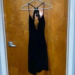 Beautiful black open back dress!